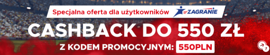 Betclic bonus - cashback do 550 złotych