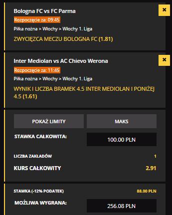 Kupon LVBET na Serie A