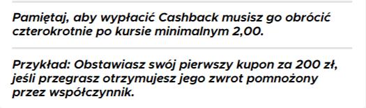 Cashback w Betclic - warunki obrotu bonusem