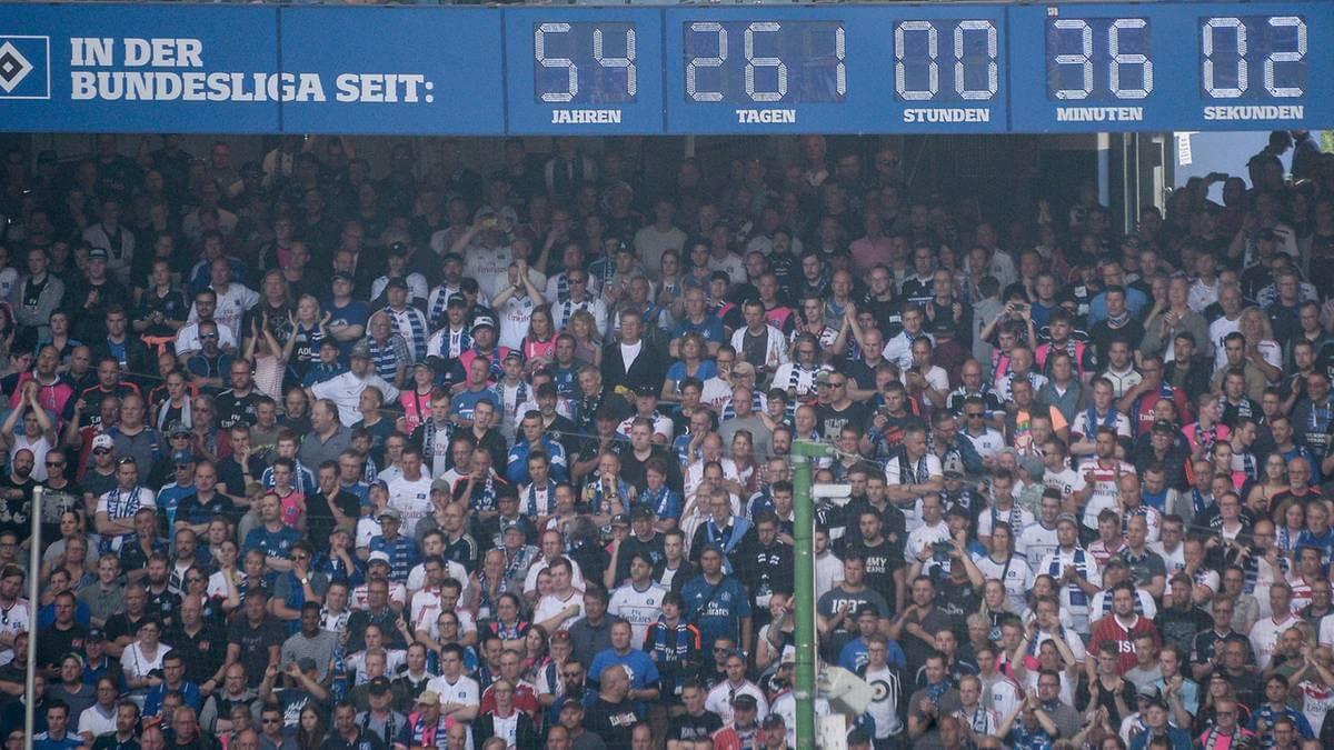 Zegar HSV na stadionie