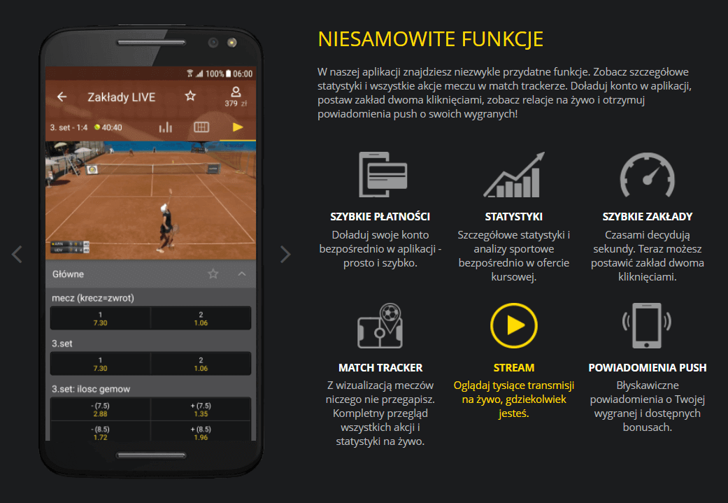 Aplikacja mobilna bukmachera Fortuna