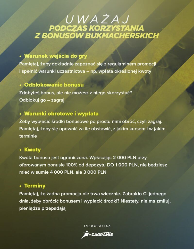 Bonusy bukmacherskie - na co uważać