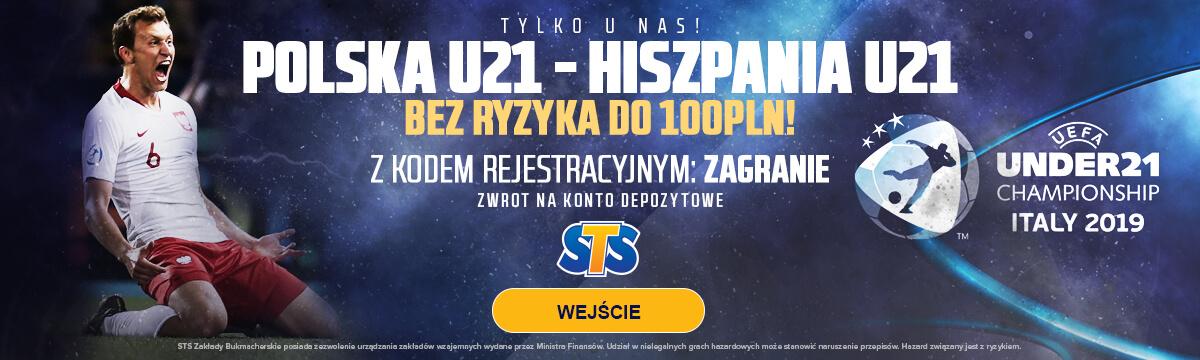 Baner na mecz Polska U21 - Hiszpania U21